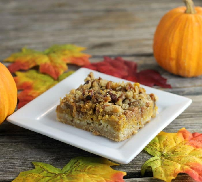 Pumpkin cream cheese bars are a perfect blend of cream cheese, pumpkin, and spices perfect for the fall holiday season.
