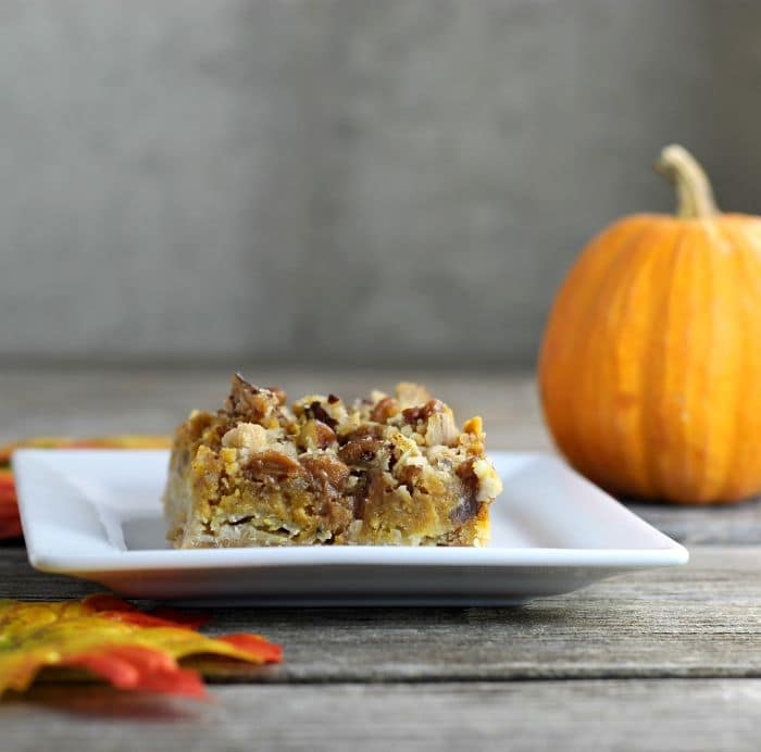 Pumpkin cream cheese bars are a perfect blend of cream cheese, pumpkin, and spices perfect for the fall holiday season.