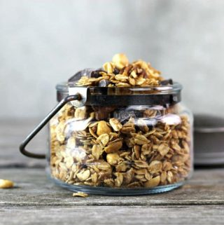 Honey Nut Granola makes a nutritional breakfast or snack at any time of the day. It's delicious to eat and is so easy to make.