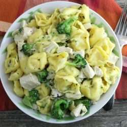 Cheese Tortellini with Chicken and Broccoli