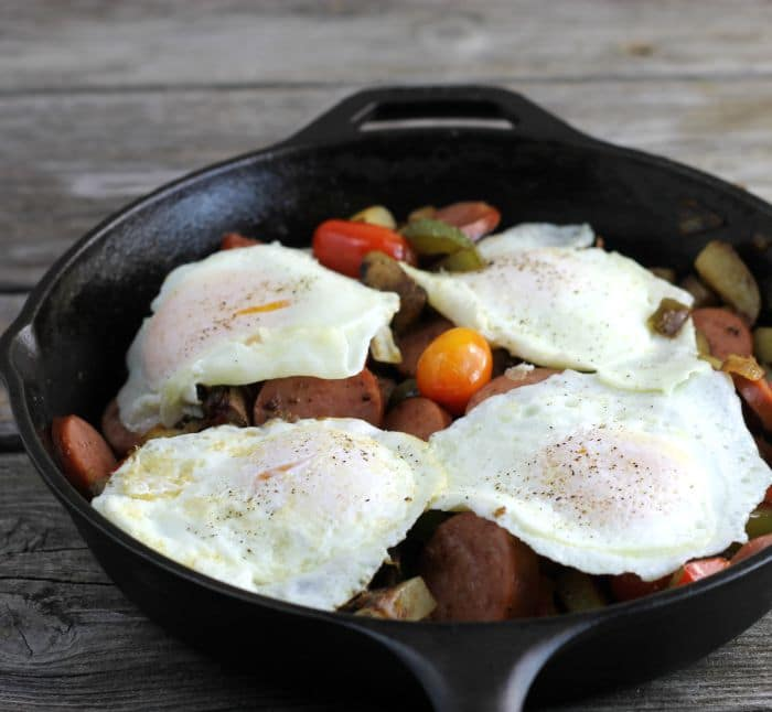 sausage and vegetables