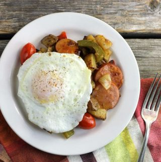Smoked Sausage Breakfast Skillet