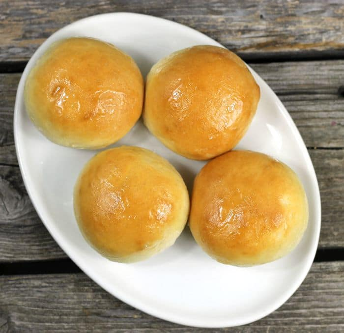 Honey Glazed Dinner Rolls