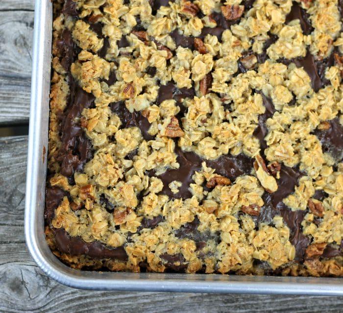 Oatmeal Chocolate Fudge Bars