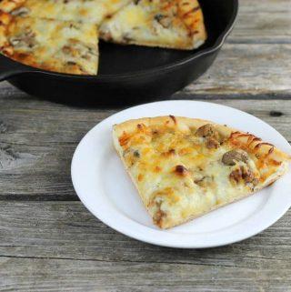 Skillet Sausage and Mushroom Pizza