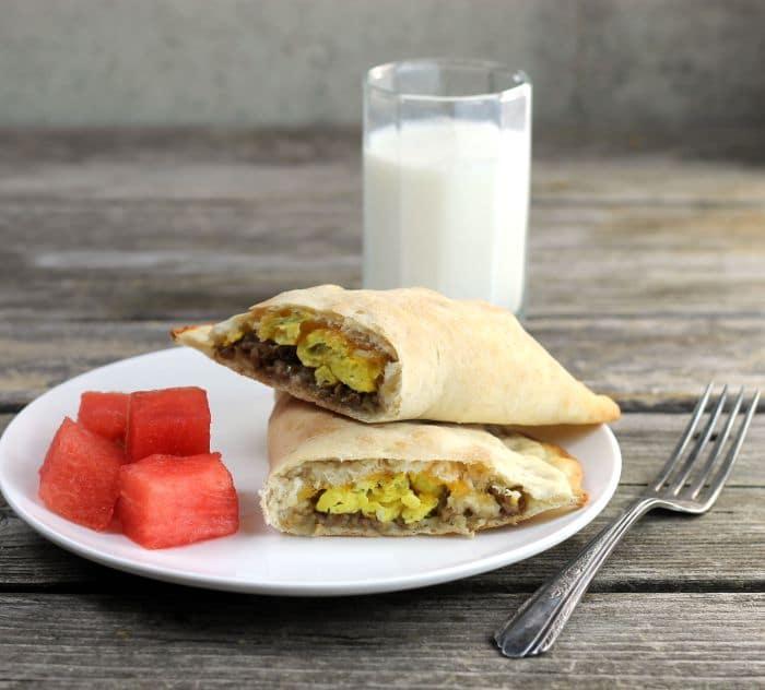 Egg Sausage Breakfast Calzones