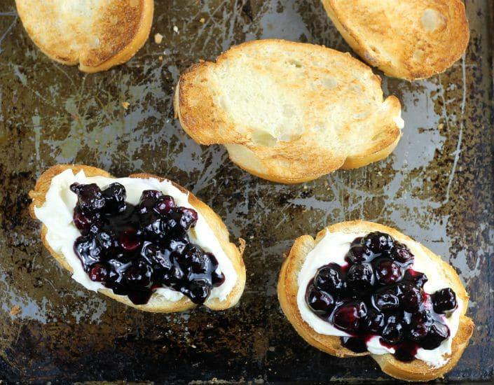 Blueberry Cream Cheese Toast