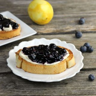Blueberry Cream Cheese Toast