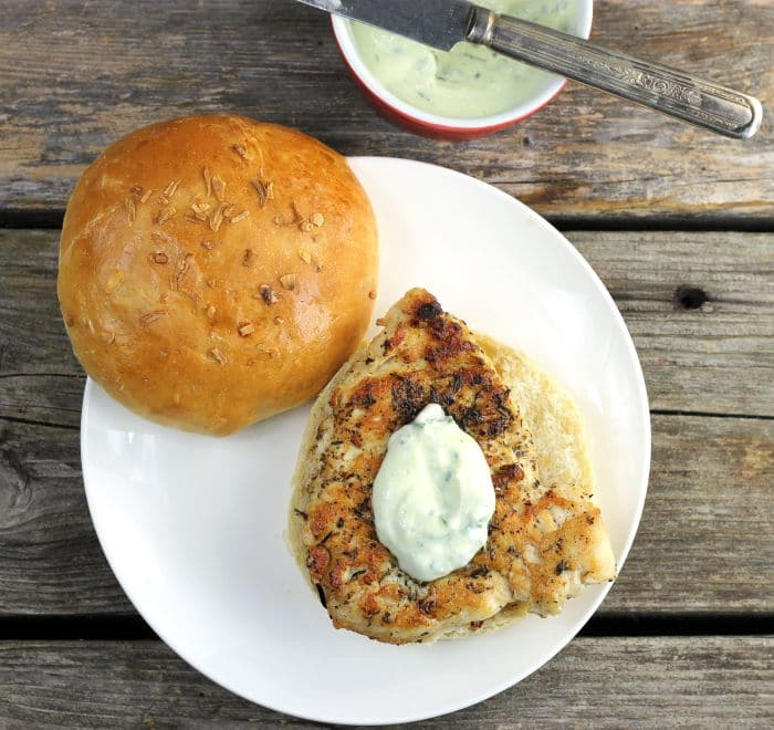 Italian Chicken Sandwich with Basil Mayonnaise