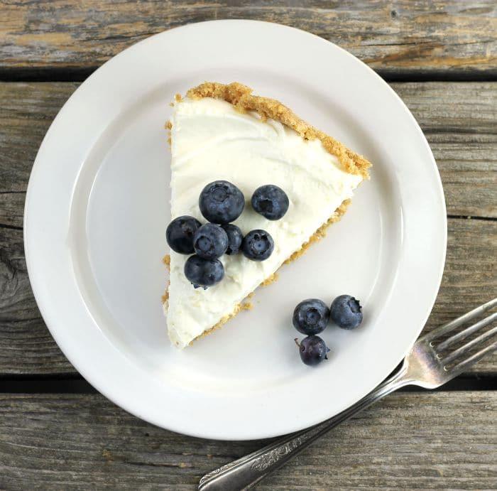 Lemon Cream Cheese Pie With Blueberries