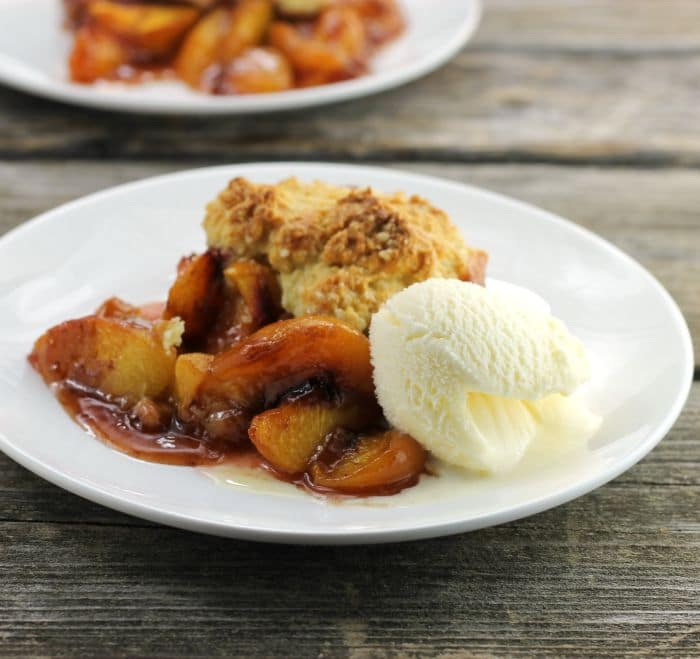Cast Iron Skillet Peach Cobbler