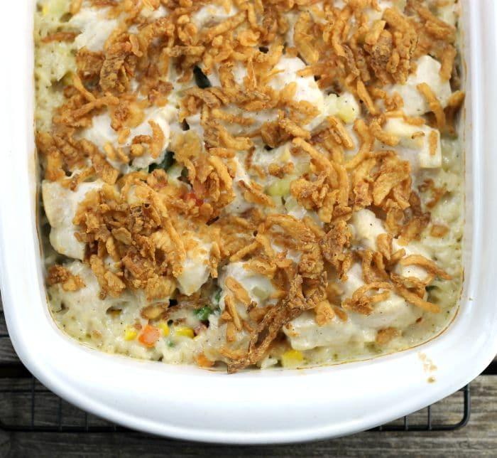 Chicken Vegetable Rice Casserole