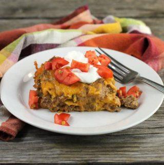 Ground Beef Tortilla Casserole