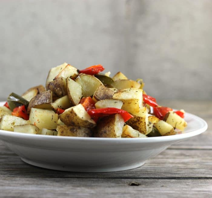 Roasted Potatoes and Bell Peppers