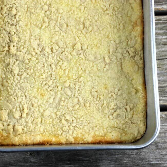 Pan of lemon cream cheese bars