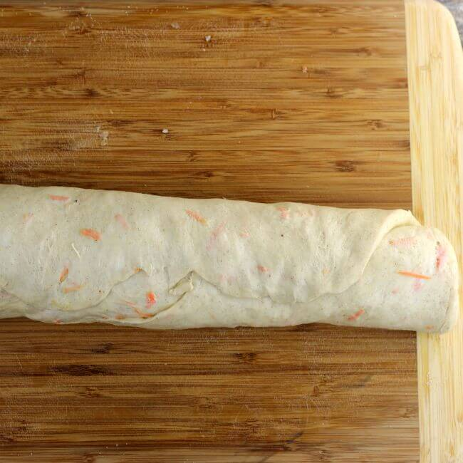 Rolled up sweet rolls.