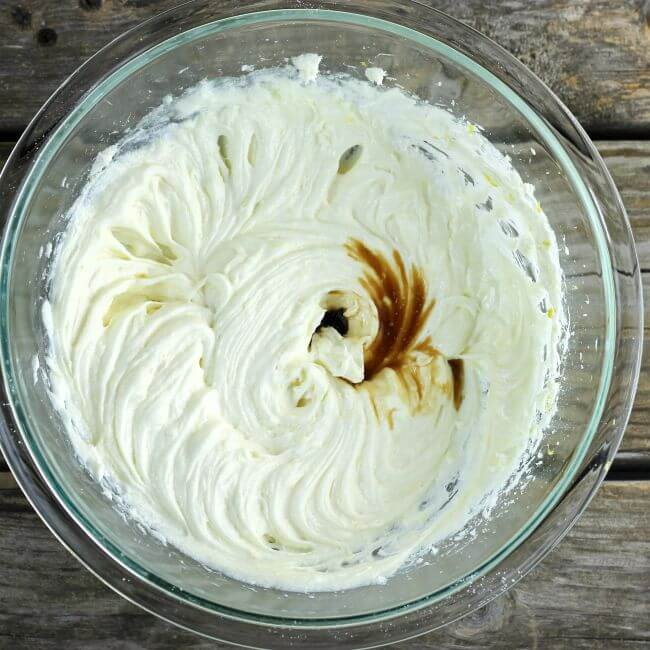 The vanilla is added to to the dip.